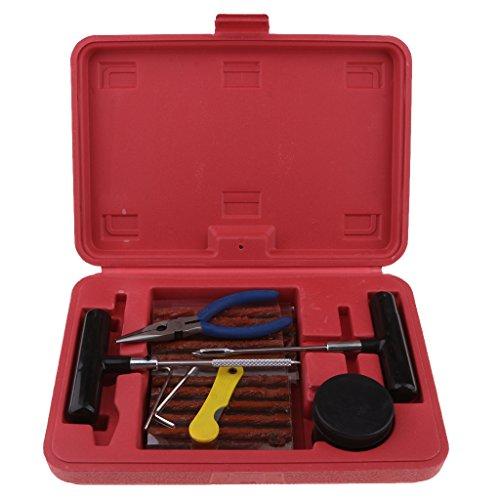 Homyl Kit de Reparation avec Mèche pour Pneu Boîte de 43pcs