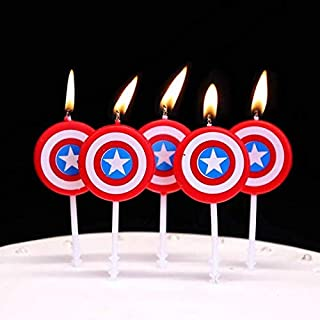 Astra Gourmet America Caption Hero BirthdayCandles for Kids Happy Birthday Decorative Cake Candle Cake Toppers Party Decorations