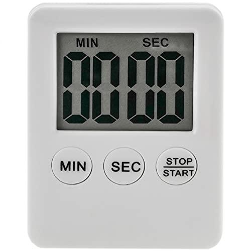 PrimeMatik - Magnetische Kurzzeitwecker Küchenwecker Küchentimer. Weiss Digitale Zeitsteuerung