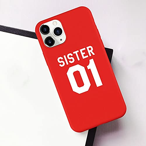 Best Friends Sisters Funda para teléfono para iPhone 7 8 6 Plus 12 11 Pro X XS XR XSMAX SE Sisters 01 02 03 Funda para teléfono con Letras, G, para iPhone 11 Pro