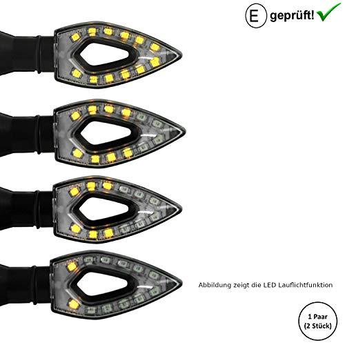 LED Blinker Qingqi, CF-Moto, Herkules, IVA, JMStar Motorroller (E-Geprüft / 2Stück) (B4)