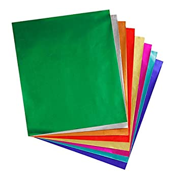 """Hygloss Products Metallic Foil Paper Sheets - 8 Assorted Colors 8 1/2 x 10"""" 24 Sheets"""
