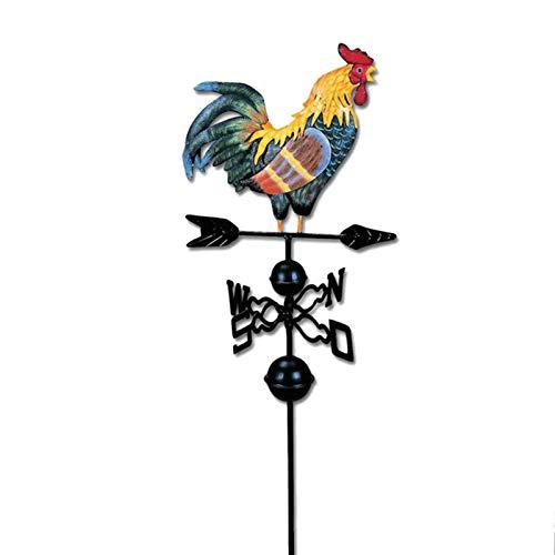 Wetterhahn Windrad Windspiel Metall Hahn Wetterfahne Windanzeige Garten Deko Dekoleidenschaft Metall-Hahn Auf Windrad, Handbemalt, Windrichtungs-Anzeiger