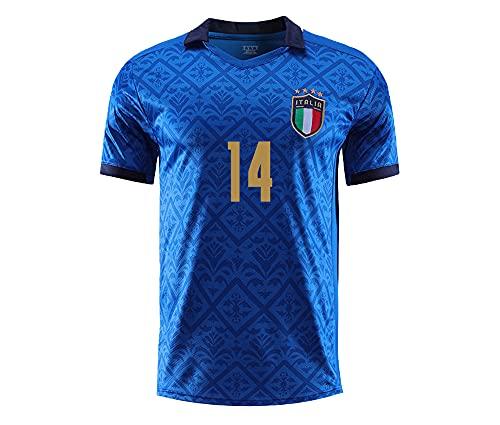 Cytech Italia Maglia da Calcio, Bambino Adulto Maschio Italia Squadra Nazionale Calcio Maglia, T-Shirt Maglietta da Calcio (14 Chiesa, M(170-175cm))