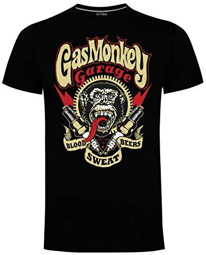 Gas Monkey Garage T-Shirt Sparkplugs Black-XL
