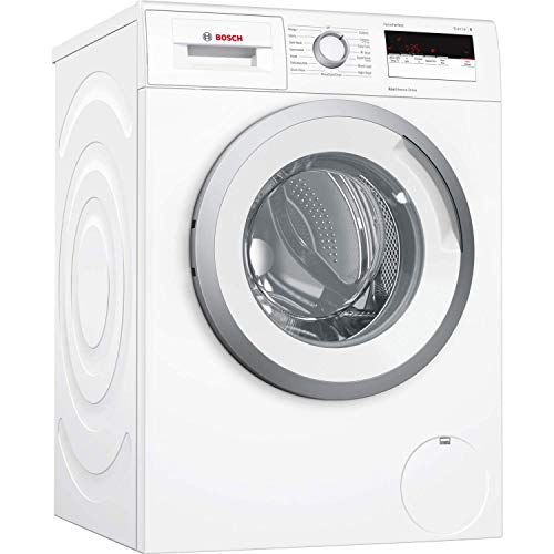 Bosch WAN24109GB Serie 4 Freestanding Washing Machine with SpeedPerfect, 8kg load, 1200rpm spin - White