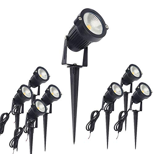 Outdoor Led Landscape Lights 12V 5W Low Voltage Waterproof Garden Pathway Tree Spotlight (8 Pack)