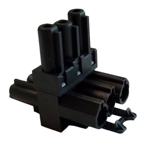 Bachmann verdeelblok stroomdoorvoerleiding Wieland, 375101, zwart