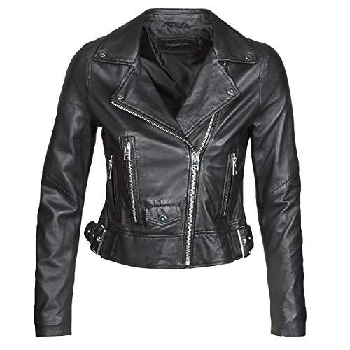 OAKWOOD PHOEBE Jacks/Blazers dames Zwart - XS - Leren jas/kunstleren jas