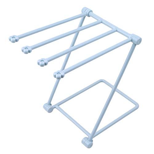 Generic Lionmer Vertikaler Handtuchhalter Aufklappbarer Küchenlappenständer für Bechertuchlappen,Blau