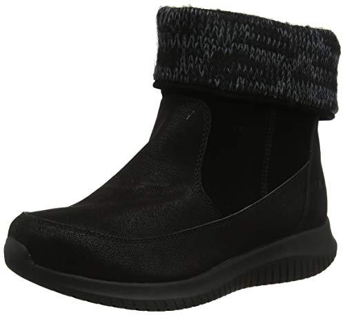 SKEAJ #Skechers Ultra Flex Kurzschaft Stiefel Damen, Schwarz (Black Suede/Micro Leather Bbk), 39 EU