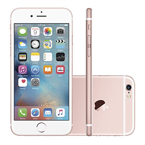 "iPhone 6s 128GB Rosê Tela Retina HD 4,7"" 3D Touch Câmera 12MP - Apple"