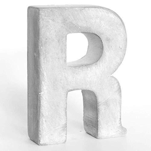 Alenio Individuelle Beton Steinguss Deko Buchstaben Ihr Name in 3D Zement Home DIY Schriftzug Love Dekobuchstaben H15cm (R)