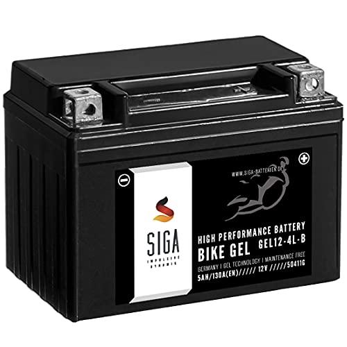 SIGA Gel Motorradbatterie 12V 5Ah 130A/EN Gel Batterie YB4L-B CB4L-B 50411 YB4L-B Gel12-4L-B
