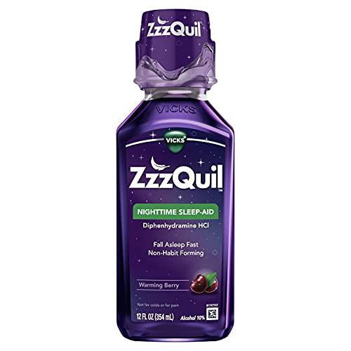 ZzzQuil, Nighttime Sleep Aid Liquid, 50 mg Diphenhydramine HCl, No.1...