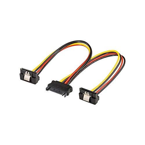 Goobay 95115 PC Y Stromkabel / Stromadapter / SATA Splitter; SATA 1x Buchse zu 2x Stecker 2x SATA-Standard Stecker > SATA Standard Buchse