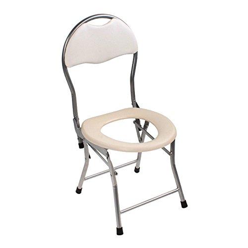Klappbarer Toilettenstuhl Sitz Mit Kommode Älterer Toilettenstuhl Portable Closesool Nachttisch Kommode Für Senioren Behinderte Person Toilettenstuhl Medizinischer Toilettenstuhl Weiß