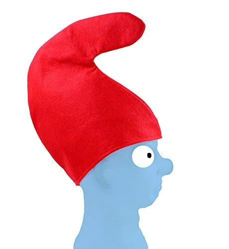 7 x Zwergenmütze Mütze rot für Kopfumfang ca. 57 cm Zwerg Fasching Karneval Fastnacht fürs Kostüm Schlumpf Kinder Gruppe Erwachsene
