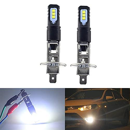 youyu6-2o521 Kit de Bombillas LED para Coche 2 unids H1 LED luz de Niebla Bombilla 6000k Brillante Blanco 12V al por Mayor para reemplazar la lámpara (Emitting Color : White, Socket Type : H1)