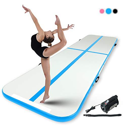 Murtisol 6M 15cm hoch Aufblasbar Gymnastik Tumbling Matte mit elektrischer Luftpumpe für zuhause, Outdoor,Yoga usw Blau