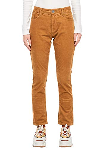 Q/S designed by - s.Oliver Damen Slim Fit: Cordhose aus Baumwollstretch camel 44.32