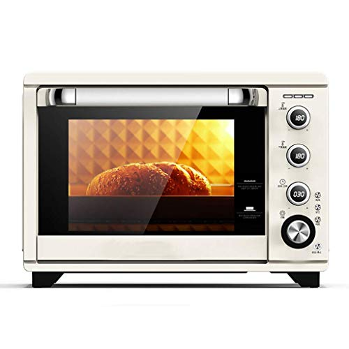 38L Computer-Type Mini Oven 8 Cooking Functions Adjustable Temperature 28-230 ℃ and 120-minute Timer Household Baking Multifunctional Hot Air/Stove Light/Rotary Fork Oven 1800W