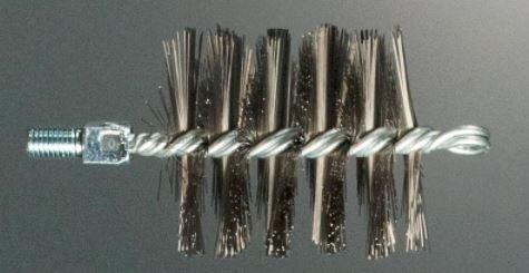 Goupillon/Brosse ronde en acier, diamètre 90 mm, Mâle 12, Cod.310/90