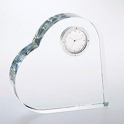 Heart Keepsake Optical Crystal Clock Award - Wedding Gift