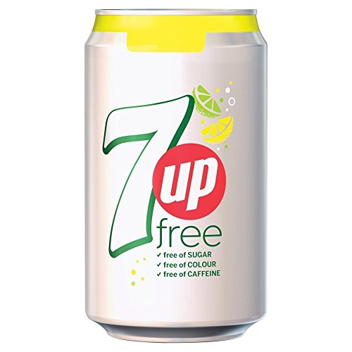 ( 24 Pack ) 7Up Free Cans - 330ml