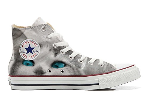 Sneakers Original USA Zapatos Personalizados Unisex (Producto Artesano) White Cat with Blue Eyes - TG44