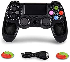 PS4 Wireless Controller - OUBANG Dualshock 4 Remote Control for Sony Playstation 4 (Elf Black Daimond)