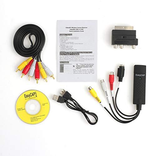 Dailyinshop Professionelle USB2.0 VHS to DVD Converter Audio Video Capture Kit Scart-Cinch-Kabel-Kit Set Geeignet für Win 10