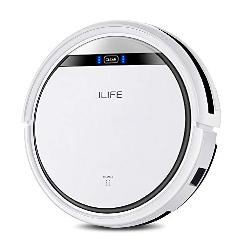 ILIFE V3s Pro Robotic Vacuum Pet Hair Care, Powerful Suction Tangle-free, Slim Design, Auto Charge, Daily Planning, Good For Hard Floor and Low Pile Carpet