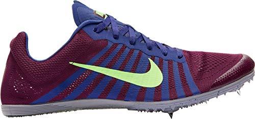 Nike Unisex-Erwachsene Zoom D Leichtathletikschuhe Mehrfarbig (Bordeaux/Lime Blast/Regency Purple 600) 38.5 EU