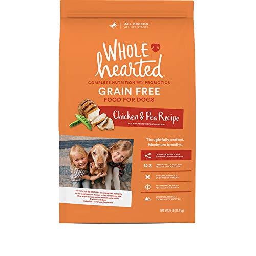 Alimento seco sin cereales para todas las etapas de la vida con pollo y guisantes para perros WholeHearted