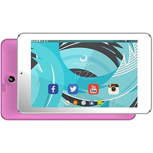 Brigmton BTPC-702QC-R - Tableta de 7' (Allwinner A33 Quad Core 1.5 GHz, Disco Duro de 8 GB, 9 GB de RAM, WiFi, Android 5.0) Rosa