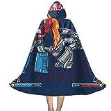 Mega Battle Optimus Prime Megatron TRAN-SFORMERS Unisex Kids Hooded Cloak Cape Halloween Xmas Party Decoration Role Cosplay Costumes Black