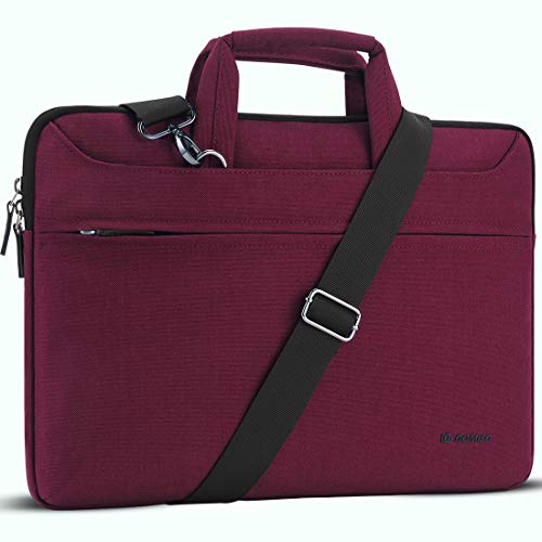 "DOMISO 14 Zoll Wasserdicht Laptop Tasche Aktentasche Schultertasche Notebooktasche für 14"" Lenovo IdeaPad Yoga 710 ThinkPad A475/Acer Aspire 1 Swift 3/HP Stream 14 Pavilion 14/Asus/Dell,Fuchsie"