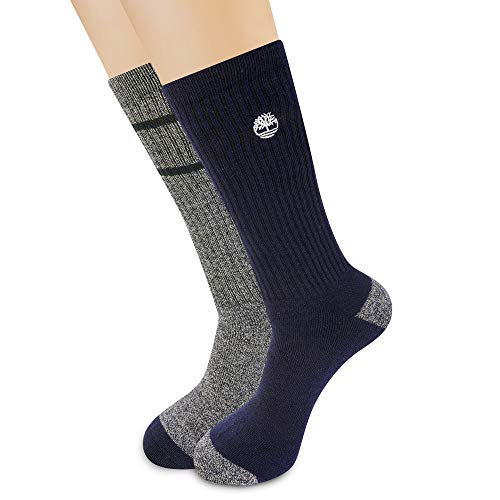 Timberland Herren 2-Pack Core Stripe Boot Socks Stiefelsocken, Peacoat, Einheitsgröße