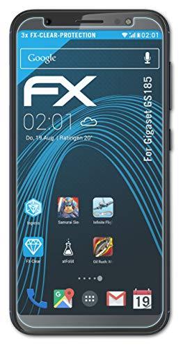 atFolix Schutzfolie kompatibel mit Gigaset GS185 Folie, ultraklare FX Bildschirmschutzfolie (3X)