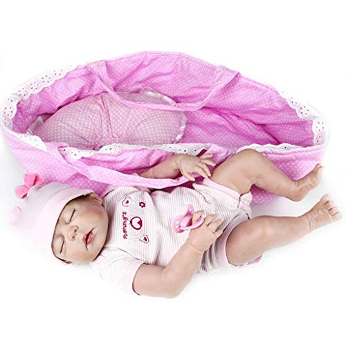 TERABITHIA 56cm Rare Alive Silicone Full Body Waterproof Reborn Baby Girl Dolls Look Real