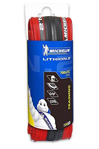 Michelin Lithion Cubierta, Rojo, 700 x 23C