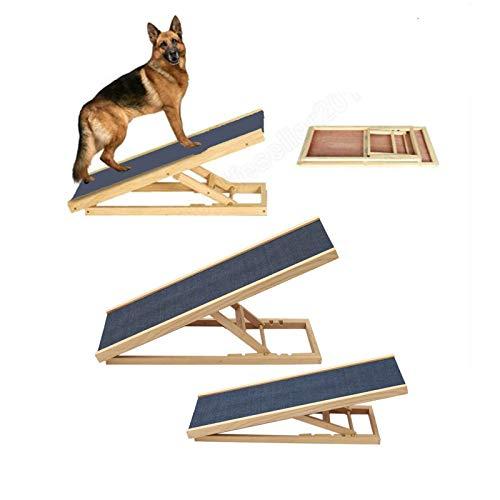 Haustierrampe, tragbar, leicht, für Hunde und Katzen, verstellbare Höhe, rutschfest, für Bett oder Couch, 70 cm x 35 cm x 30/40 cm Höhe