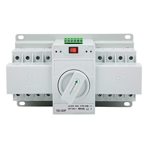 Jeanoko Leistungsschalter des automatischen Übertragungsschalters Mini Dual Electronic Power Toggle 63A/4P für Aufzüge