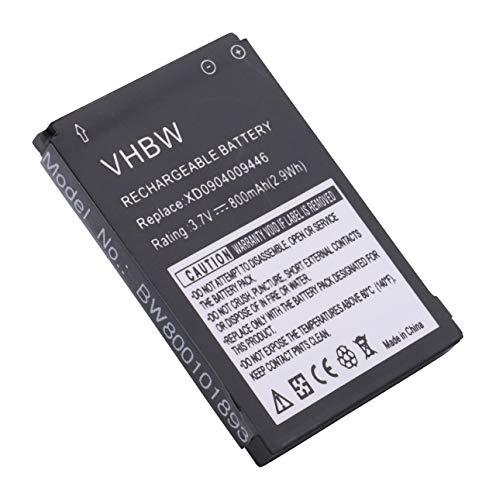 vhbw Li-Ion Akku 800mAh (3.7V) für Handy Doro HandlePlus 334, PhoneEasy 332, 338, 341, 342, 345, 505 wie 01.10.CAREP0103y, XD0904009446.
