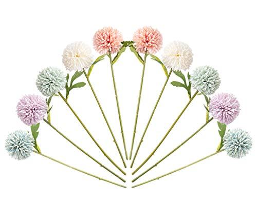 10 hortensias artificiales, flores de seda, crisantemo hortensia, para ramos de boda, arreglos de flores, fiestas de…