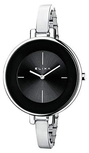 Reloj mujer ELIXA FINESSE esfera grande negra