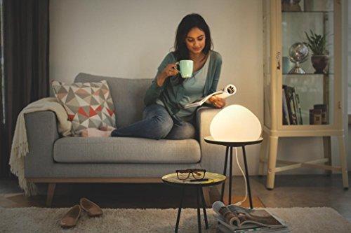 Philips Hue LED Tischleuchte Wellner inkl. Dimmschalter, alle Weißschattierungen, steuerbar auch via App, Glas, weiß, 4440156P7 - 6