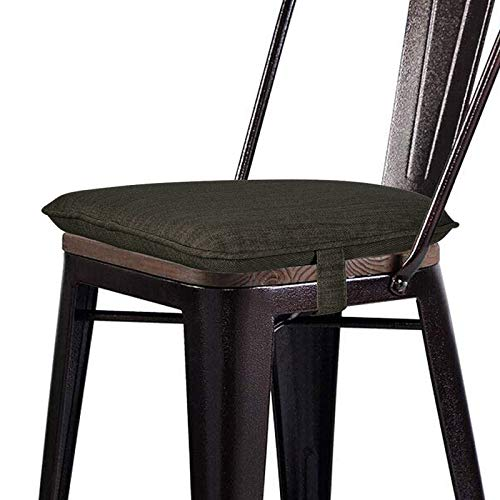 baibu Soft Metal Dining Chair Pads Bar Stool Cushion with Ties for Metal Chairs or Bar Stools - One...