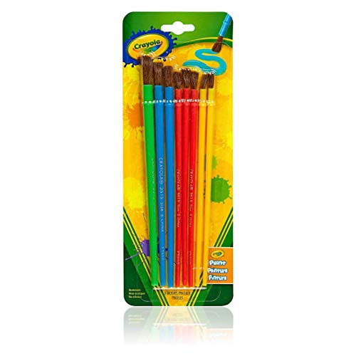 Crayola Paint Brushes, Painting Supplies, 8 pc, Assorted Colors & Sizes (117501)